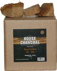 House of Charcoal Rookhouts chunks Eik - Oak chunks smoking wood - 2,5 kg