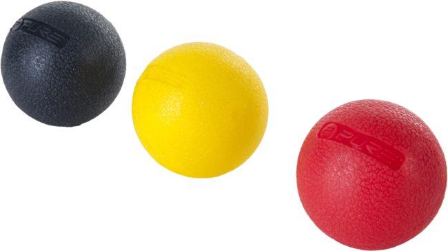 Afbeelding van Rode Pure2Improve massageballen 5 cm geel/rood/zwart 3 stuks