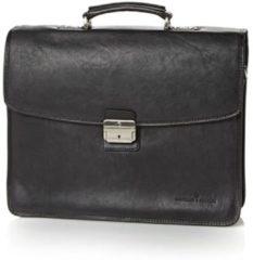 Zwarte Castelijn & Beerens Verona Laptoptas 15.6'' 3-vaks zwart