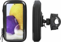 Interphone - Samsung Galaxy A72 Unicase Telefoonhouder Fiets en Motor Stuur Zwart