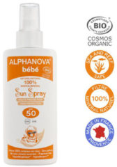 Alphanova Sun Sun zonnebrand spray SPF50 baby zonder parfum 125 Milliliter
