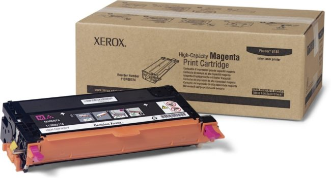 Afbeelding van Gele Xerox Phaser 6180 tonercartridge geel high capacity 6.000 pagina's 1-pack