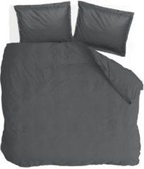 Antraciet-grijze Walra Vintage Satin - Dekbedovertrek - Lits-jumeaux - 240x200/220 cm + 2 kussenslopen 60x70 cm - Antraciet