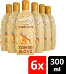Andrélon Andrélon Zomerblond - 300 ml - Shampoo - 6 stuks - Voordeelverpakking