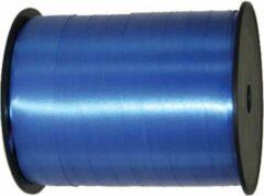 Folat Cadeaulint/sierlint in de kleur blauw 5 mm x 500 meter - Krul linten voor bloemen/ballonnen