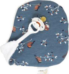 Blauwe Wallabiezzz - Speendoekje - Speenknuffel - Knuffeldoekje - Birds Blue