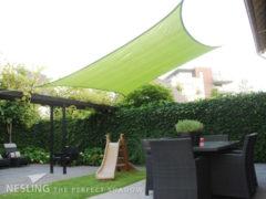 Groene Schaduwdoek - Nesling - Coolfit - Lime Groen - Vierkant - 5 x 5 x 5 x 5 m