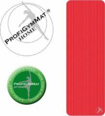 Trendy sport ESam® - TS Fitnessmat - ProfiGymMat Home 180 cm lang x 60 breed x 1 CM dik - Rood - Red - 110 kg/m³