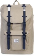 Herschel Rucksack mit Laptopfach, »Little America, Khaki Crosshatch, Mid-Volume«