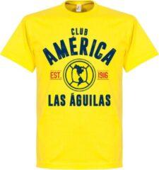 Retake Club America Established T-Shirt - Geel - M