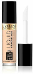 Huidskleurige Eveline Cosmetics Eveline - Liquid Camouflage Hd Long Lasting Formula 24H Concealer Cover Up To Face 01 Light 5Ml