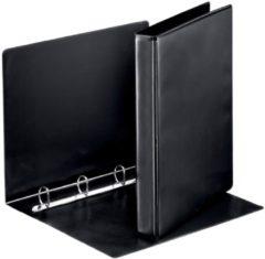 Esselte personaliseerbare ringmap, rug van 4,4 cm, 4 D-ringen van 25 mm, zwart