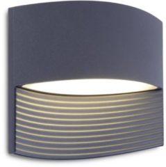 Lutec Lotus 5193201118 Buiten LED-wandlamp Energielabel: LED (A++ - E) 11 W Warm-wit Grijs