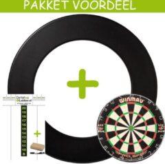 Lena Dartbord VoordeelPakket Deluxe - Pro SFB - Rubberen Surround-Scorebord Pakket Basic- (Zwart)