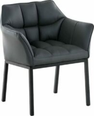 Clp Octavia - Lounge zetel - Kunstleer - grijs onderstel : matzwart metaal