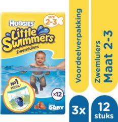 Huggies Little Swimmers Zwemluiers mt 2-3 - 3x 12 stuks - Voordeelverpakking