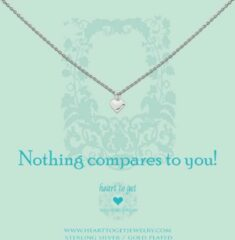 Heart to get N02SHE11S-2 Ketting Heart Nothing compares... zilver