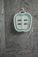 Merkloos / Sans marque Opvouwbaar voetbad met massage studs, mintgroen
