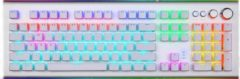 Zilveren AULA S2096 RGB mechanisch gaming toetsenbord - qwerty - blue switch - 108 keys - anti-ghosting - game toetsenborden ( Silver White )