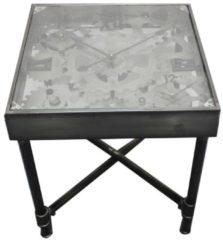 Tisch mit Uhr Steampunk HTI-Line Silber
