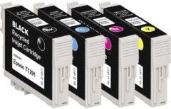 Basetech Inkt vervangt Epson T1291, T1292, T1293, T1294 Compatibel Combipack Zwart, Cyaan, Magenta, Geel BTE125 1617,4050-126