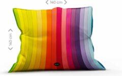 Mr. Relax Lounge Zitzak 140 x 140 cm Regenboog Binnen- en Buitengebruik Vloeistofdicht Back To School