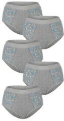 Tailleslips Blue Moon 3x grijs/turquoise/wit, 2x grijs/lila/wit