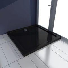 VidaXL Piatto doccia quadrato in ABS nero 80 x 80 cm