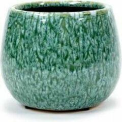 Serax Bloempot Sierpot Seagrass Groen Turquoise H 13.5cm D 16.5cm