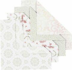 Colortime Origamipapier, afm 15x15 cm, 80 gr, groen, grijs, wit, lichtrood, 40vellen