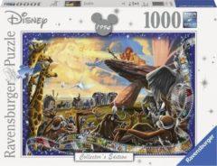 Grijze Ravensburger puzzel Disney The Lion King - Legpuzzel - 1000 stukjes
