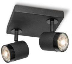 Home sweet home LED opbouwspot Manu 2 lichts ↔ 16 cm - zwart