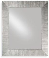 Pezzani srl Specchiera rettangolare da parete in legno massello foglia argento DIVA 85x102
