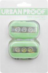 URBAN PROOF - Clip Fietslampjes set - Pastel groen
