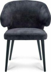 Antraciet-grijze Happy Hair Happy Chairs – Armstoel Feliciano – Velvet Antraciet
