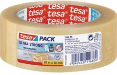 Tesa® Tesapack® Ultra Strong zeer sterke PVC-verpakkingstape, voor zware pakketten, bruin en transparant