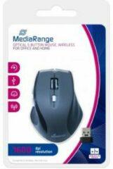 Grijze MediaRange MROS203 muis RF Draadloos Optisch 1600 DPI Rechtshandig