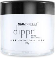 Witte Dip poeder voor nagels - Dippn Nailperfect - 001 Soft White - 25gr