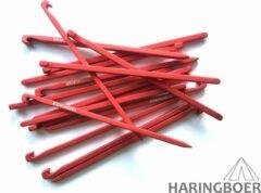 Rode Haringboer 16cm 7075-T6 aluminium spijkerharingen - Tentharingen inclusief haringzak