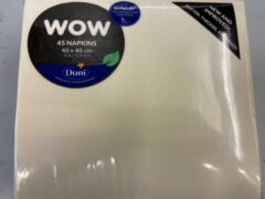 Creme witte Dunilin servet creme 45 stuks 40* 40 cm