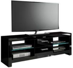 Zwarte Hubertus Meble TV Meubel Andora 150 cm breed - Hoogglans Zwart