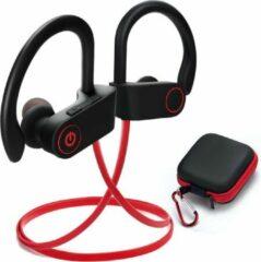 SBVR SV2 - Draadloze bluetooth in ear sport oortjes headset - IPX6 Waterproof - Bluetooth 5.0 - Rood