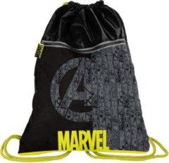 Marvel Avengers gymbag - 45 x 34 cm - Zwart