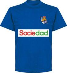 Retake Real Sociedad Team T-Shirt - Blauw - S