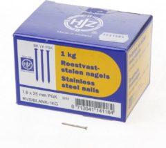 Klusgereedschapshop RVS nagels plat geruite kop 1.6 x 25mm 1kg