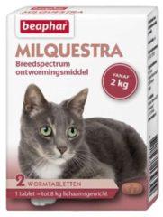 Beaphar Milquestra Kat Rund - Anti wormenmiddel - 2 tab 2 Tot 12 Kg