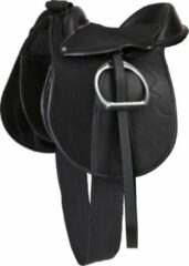 Zwarte Kerbl Zadelset Pony Economy - 110 cm - 15,0 inch