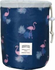 Fako Fashion® - Make Up Tas - Cosmetica Organizer - Reistas - Toilettas - Flamingo Donkerblauw