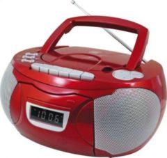 Soundmaster SCD5750RO CD-Radiorekorder mit externen Mikrofon - rot