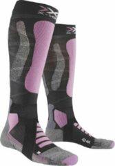 Grijze X-socks Skisokken Touring 4.0 Dames Polyamide/wol Paars Mt 39-40